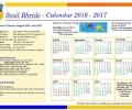 Scoil Bhríde – Calendar 2016 – 2017