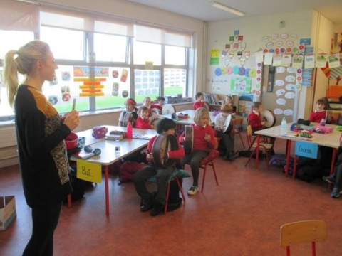 2nd Class Learning The Bodhrán